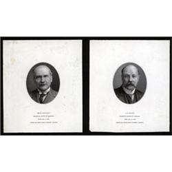 Imperial Bank of Canada, Proof Portrait Vignette Pair of 1923 Issue Notables.