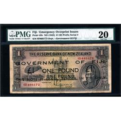 Government of Fiji, 1942 Emergency Overprint Issue.