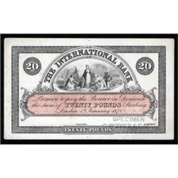 The International Bank, Essay Proof Banknote.