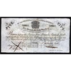States of the Island of Jersey, British Administration, 1840 Interest Bearing Note.