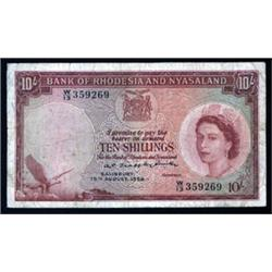 Bank of Rhodesia and Nyasaland, 1956 Issue.