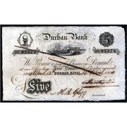Durban Bank Issued Banknote.