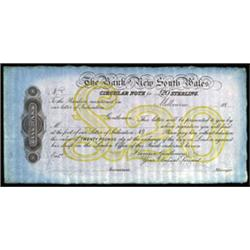 Bank of New South Wales Circular Letter of Credit Specimen.