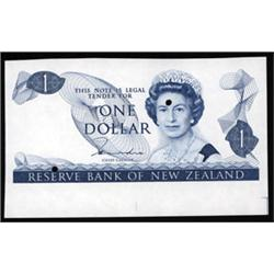 Reserve Bank of New Zealand, 1981-83 ND Issue, Color Trial Proof.
