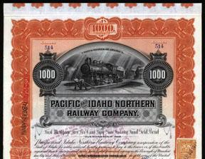Pacific and Idaho Northern Railway Company Pacific Railway Company