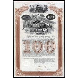 New Orleans and Southern Railroad Co. Bond Scrip.