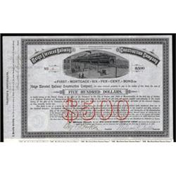 Meigs Elevated Railway Construction Company Bond.