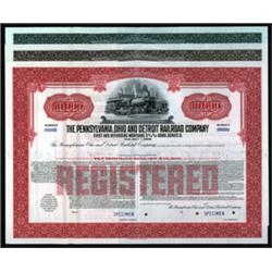 Pennsylvania, Ohio and Detroit Railroad Co. Bond Trio.
