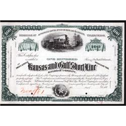Kansas and Gulf Short Line Railroad Company Proof Stock.