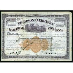 Atchinson and Nebraska Railroad Company with Imprinted Revenue RN-U1.