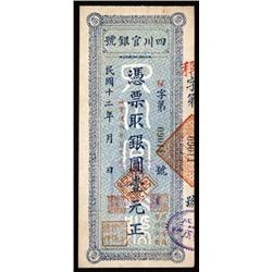 Szechuan Official Bank, ND Issue.