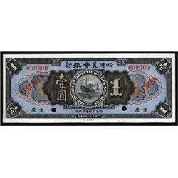 American-Oriental Bank of Szechuan 1924 Chungking Branch Issue.
