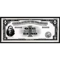 Central Bank of the Philippines Photo Proof of Proposed $1 SBNC Essay Issue.