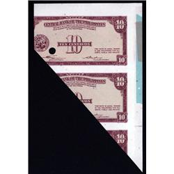 Central Bank of the Philippines Partially Printed Specimen Banknote.