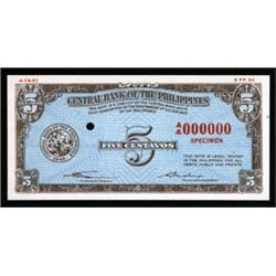 Central Bank of the Philippines Essay Banknote, 1949 Issue.