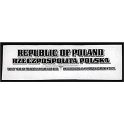 Republic of Poland and National Economic Bank, Poland Proof Bond Certificate Titles.