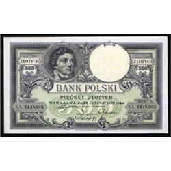 Bank Polski, 1919 (1924) Dated Issue.
