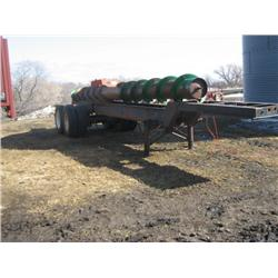 end dump trailer frame, salvage title