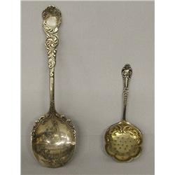 2 Antique Silver Spoons