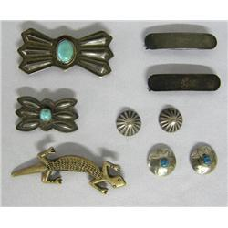 9 Pieces Vintage Navajo Jewelry