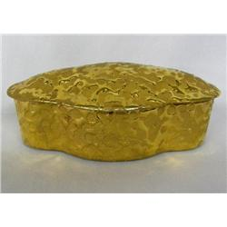 Weeping Bright Gold Covered Ceramic Box