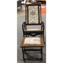 Antique Rocker With Foot Rest