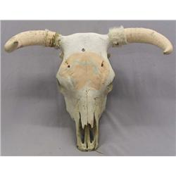 Cow Skull With Painted Horns & Design