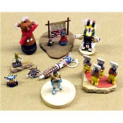 Native American Miniature Folk Art & Kachinas