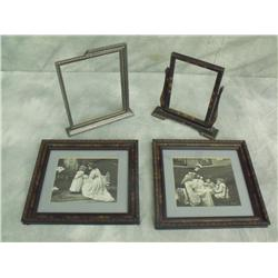 Two Vintage Frames and Two Vintage Photos