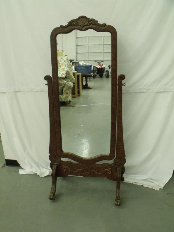 Vintage full length mirror for Full length window mirror
