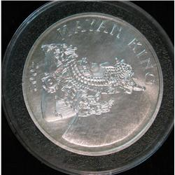 1399. 2002 Mayan King Commemorative Belize Dollar. BU. Encapsulated.