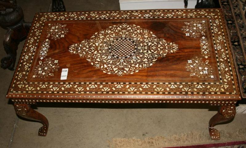 ... Image 2 : Small Coffee Table W/Inlaid Ivory