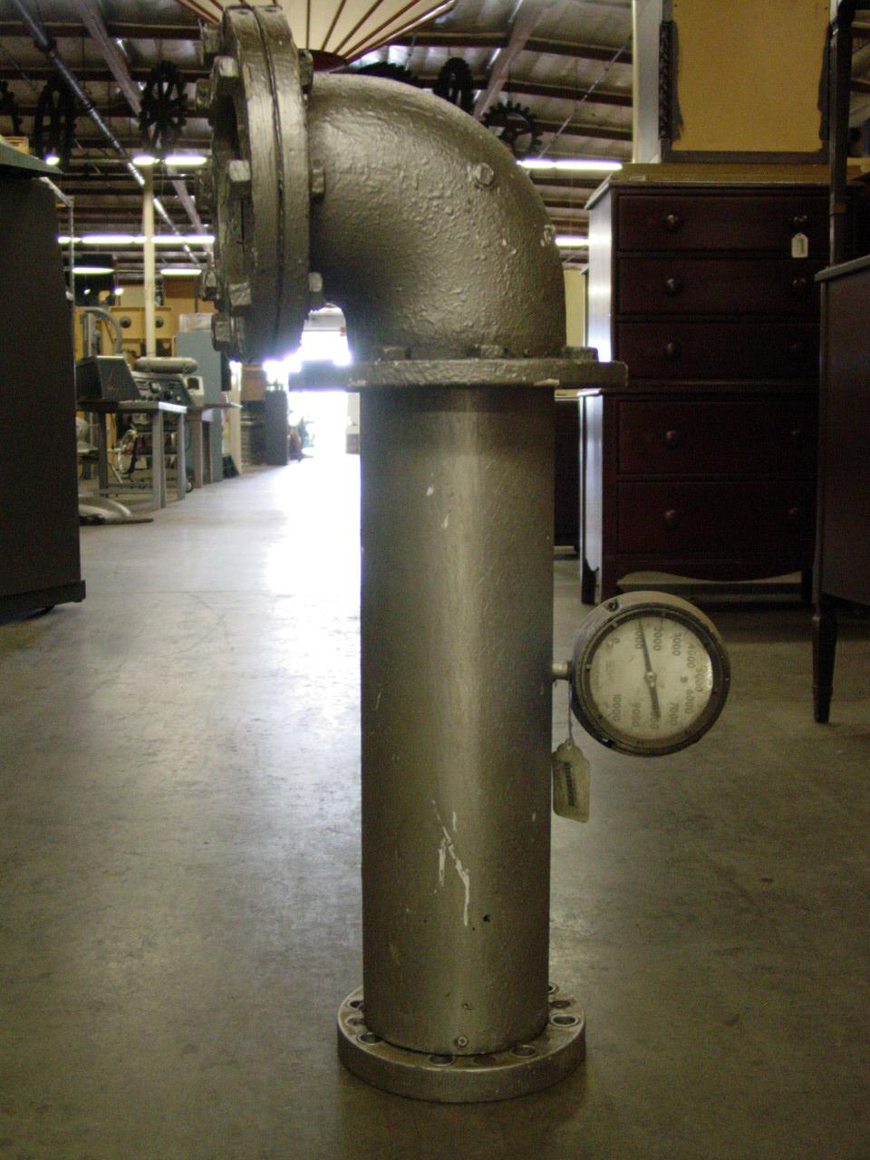 Industrial Steel Pipes : Large tall industrial pipe with valve prop