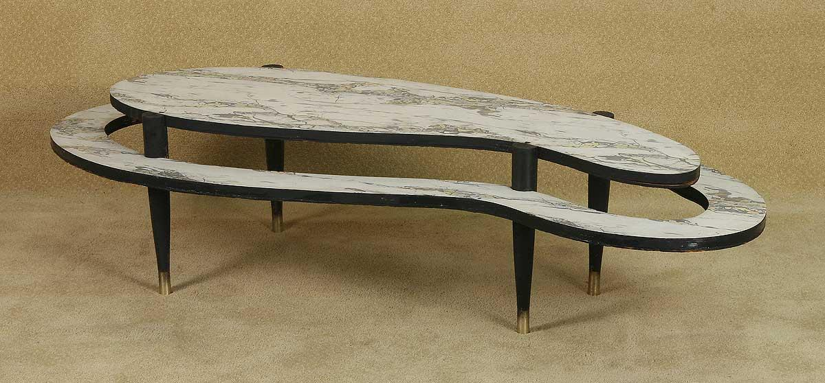 Powder Blue 2009 With Patrick Swayze 1950 S Kidney Shaped Two Tier Coffee Table Used As A Loading Zoom