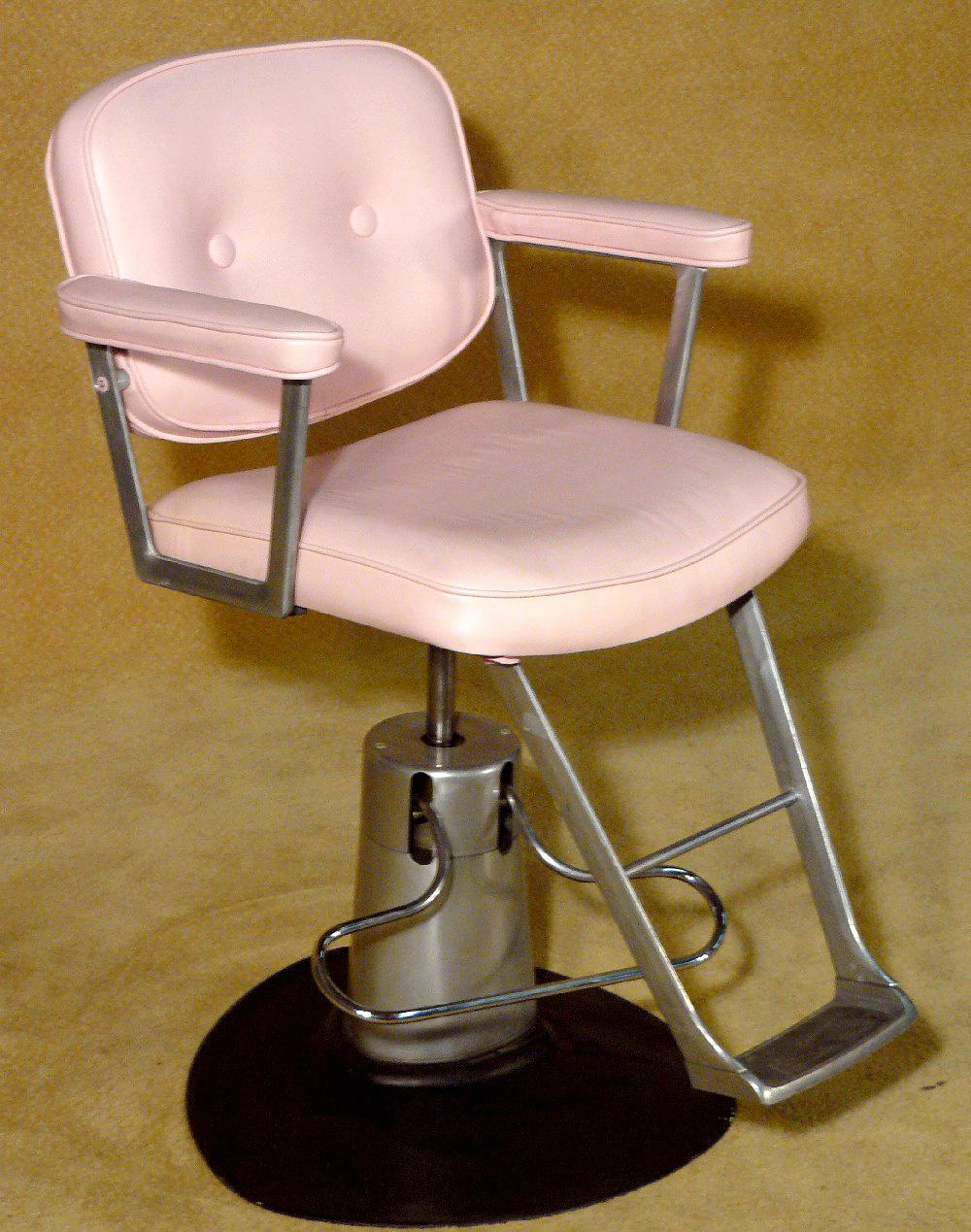 Antique barber chair tufted barber chair x4
