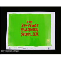 """Simpsons"" Halloween Special XII Title Original Production Cel"