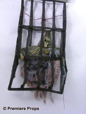 Image 1 Ii Skeleton Hanging Cage Decoration Movie Props