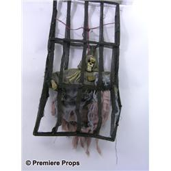 Halloween II Skeleton Hanging Cage Decoration Movie Props