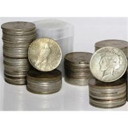 Lot of 10 Peace Silver Dollars-