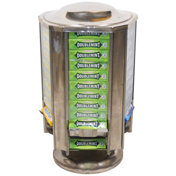 Wrigley's Gum Revolving Counter Display Six Sided Exc Cond 40H X Amazing Wrigley's Chewing Gum Display Stand