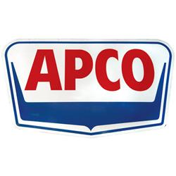 Petroliana, Apco Petroleum Products porcelain sign, 2-sided, c.1950's, Exc cond on both sides, 43 H