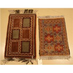 A Pair of Two Persian Turkoman Wool Rugs.