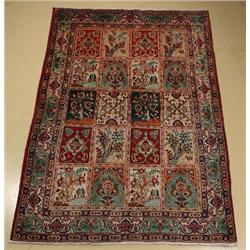 A Persian Tabriz Wool Rug With Garden Design,