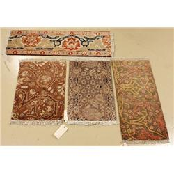 A Group of Four Pakistani Persian Agra Wool Rugs.