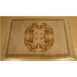 A Chinese Dragon Wool Rug.