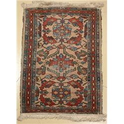 An Antique Persian Hamadan Wool Rug.