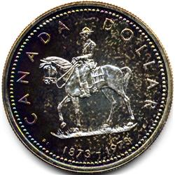 1873-1973 CANADA SILVER DOLLAR-PROOF WITH COLOR