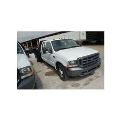 2003 FORD F350 CREWCAB FLATBED TRUCK