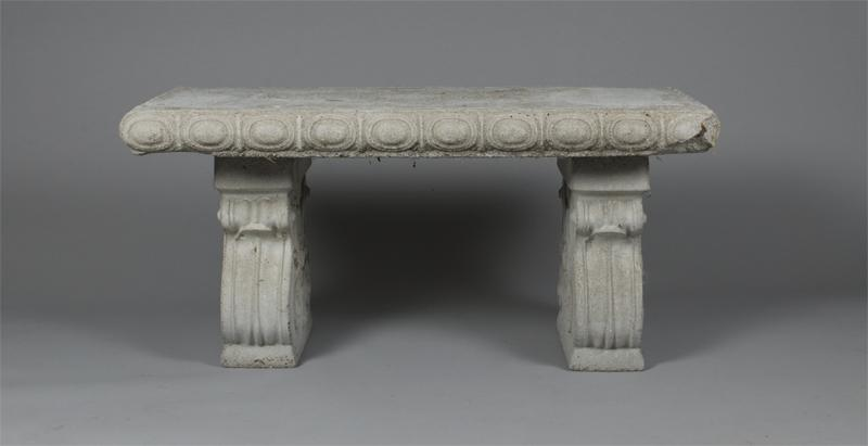 Ornate Cement Garden Bench