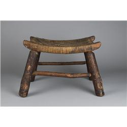 Fine 19th C. American Hickory Saddle Seat Stool